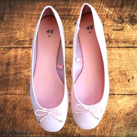 H&M light pink ballet flats sz 10